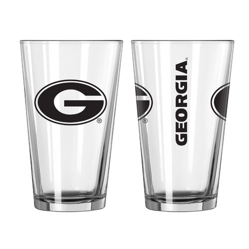 Boelter Brands University of Georgia Game Day 16 oz. Pint Glasses 2-Pack