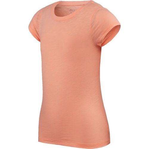 BCG Girls' Basic Slub Crew Neck Short Sleeve T-shirt
