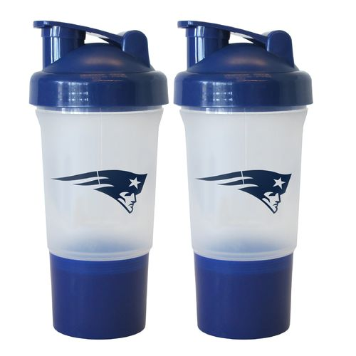 Boelter Brands New England Patriots 16 oz. Protein Shakers 2-Pack