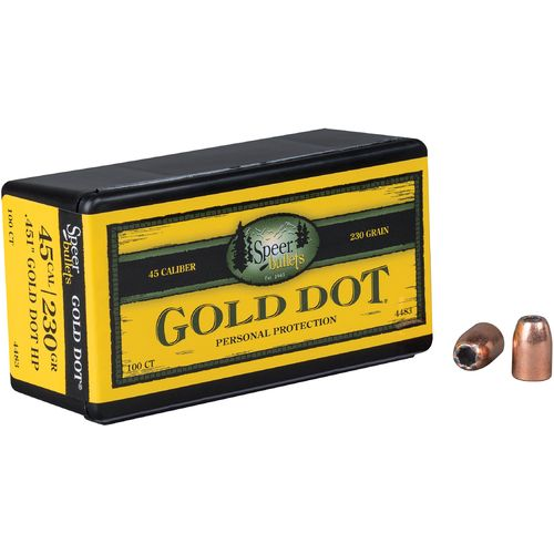 Display product reviews for Speer® Gold Dot .45 Auto 230-Grain Hollow-Point Bullets