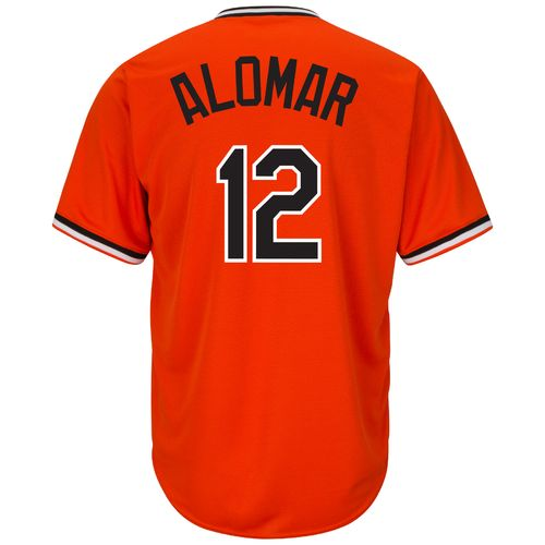 Majestic Men's Baltimore Orioles Roberto Alomar #12 Cooperstown Cool Base 1965-66 Replica Jersey