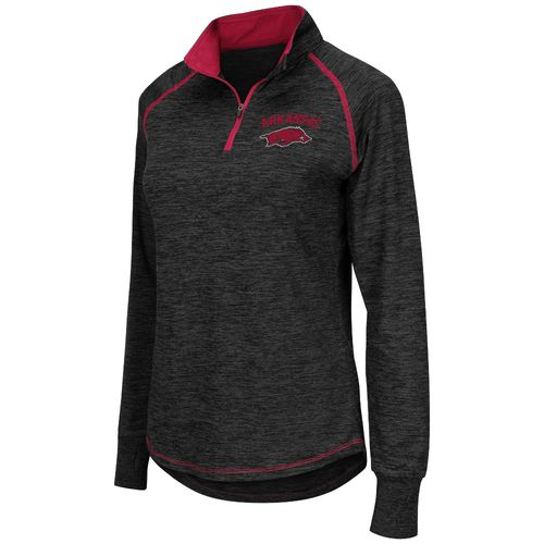 Colosseum Athletics™ Women's University of Arkansas Bikram 1/4 Zip Pullover