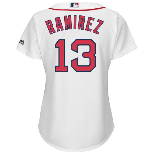 Majestic Women's Boston Red Sox Hanley Ramirez #13 Cool Base Replica Home Jersey - view number 1