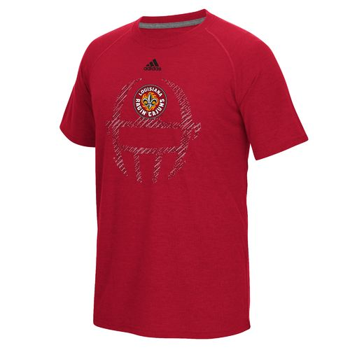 adidas™ Men's University of Louisiana at Lafayette Sideline Helmet Dot T-shirt