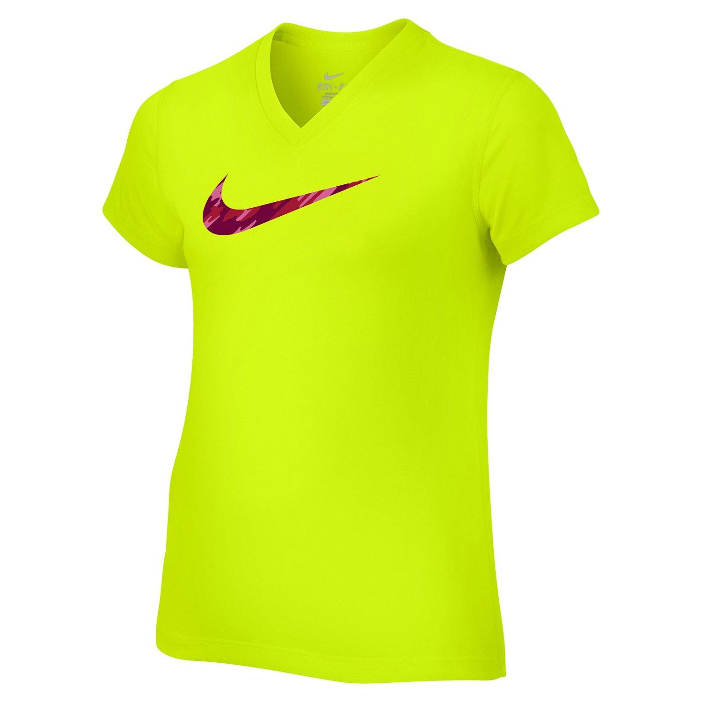 Nike Girls' Legend Swoosh V-neck Fill Short Sleeve