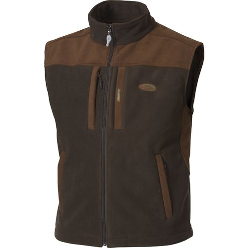 Drake Waterfowl Men's MST 2-Tone Hunting Vest (Olive/Brown, Size Small) - Men's Outdoor Apparel, Men's Longsleeve Outdoor Tops at Academy Sports thumbnail