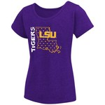 Colosseum Athletics Girls' Louisiana State University T-shirt