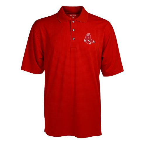 Antigua Men's Boston Red Sox Phoenix Pointelle Polo