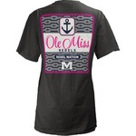 Three Squared Juniors' University of Mississippi Knotty Tide T-shirt