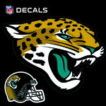 "Stockdale Jacksonville Jaguars 12"" x 12"" Single Logo Decal"