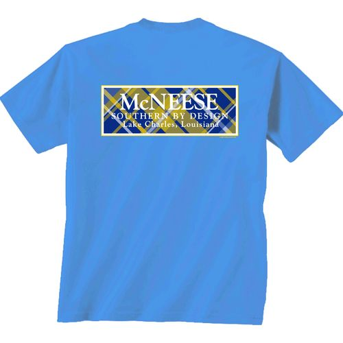 New World Graphics Women's McNeese State University Madras T-shirt