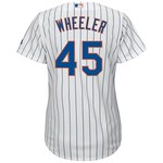 Majestic Women's New York Mets Zack Wheeler #45 Authentic Cool Base Home Jersey