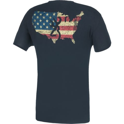 Browning™ Men's Flag USA Shape Short Sleeve T-shirt