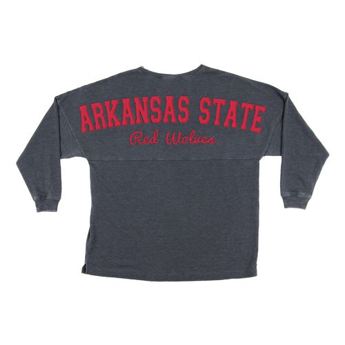 Chicka-d Women's Arkansas State University French Terry Varsity Jersey