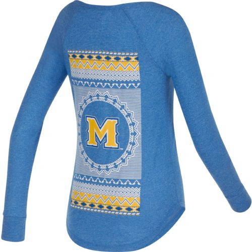 Chicka-d Women's McNeese State University Favorite V-neck Long Sleeve T-shirt