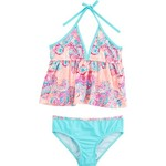 O'Rageous Kids Girls' Floral Spirit 2-Piece Tankini Swimsuit - view number 1