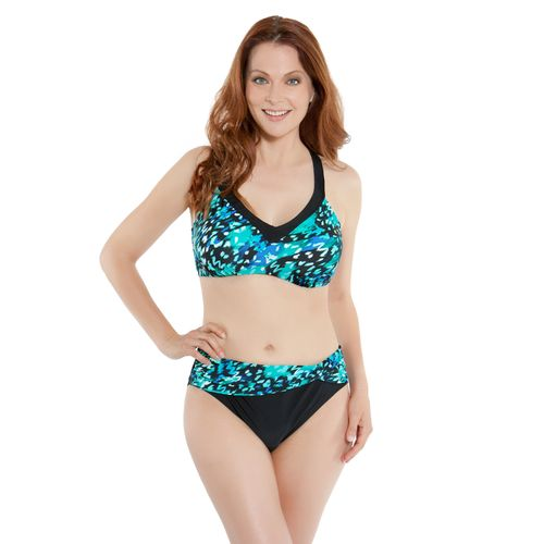 Sweet Escape Women's Rainforest Fervor D-Cup Underwire Bra Swim Top