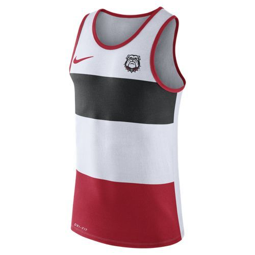 Nike™ Men's University of Georgia Stripe Tank Top