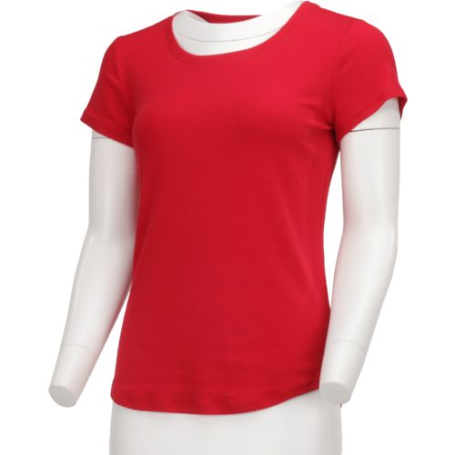BCG Women's Horizon Short Sleeve Crew Solid Heather Top