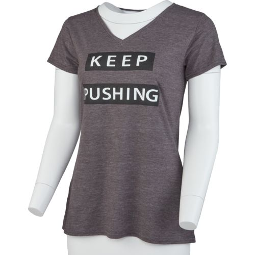 BCG Women's Keep Pushing V-neck Graphic T-shirt - view number 1