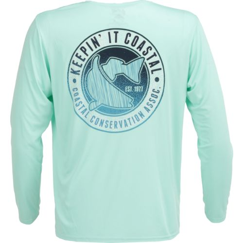 CCA Men's Keepin' It Coastal Moisture Management Long Sleeve T-shirt