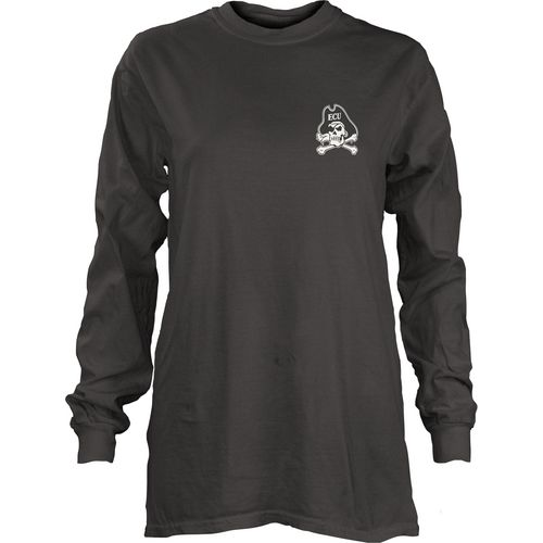 Three Squared Juniors' East Carolina University Tower Long Sleeve T-shirt - view number 2