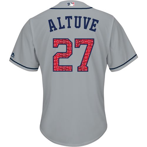 Majestic Men's Houston Astros Jose Altuve Stars and Stripes Cool Base Jersey