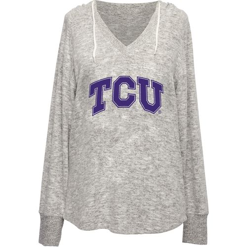 Chicka-d Women's Texas Christian University V-neck Hoodie