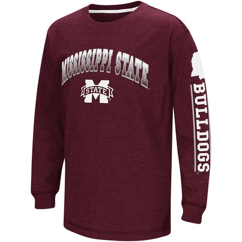 Colosseum Athletics Boys' Mississippi State University Grandstand Long Sleeve T-shirt