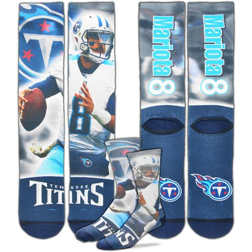 For Bare Feet Men's Tennessee Titans Marcus Mariota City Star Player Crew Socks