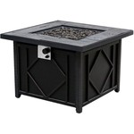 Bali Outdoors 35 in Square Cast Tabletop Gas Fire Pit - view number 3