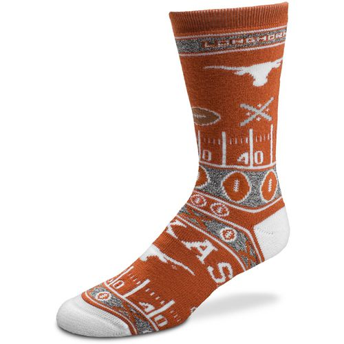 For Bare Feet Men's University of Texas Super Fan Crew Socks