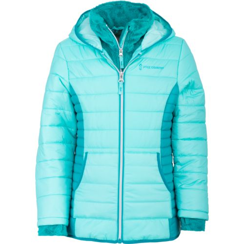 Free Country Girls' Cire Quilted Puffer Jacket