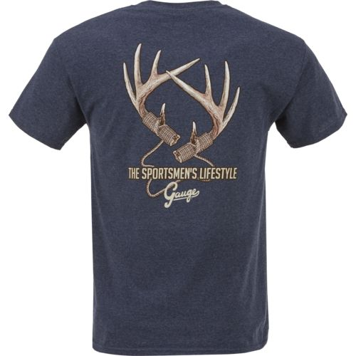 Gauge Men's Deer Antlers Graphic T-shirt