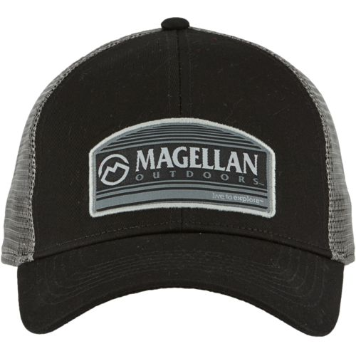 Magellan Outdoors Men's Basic Line Patch Trucker Cap