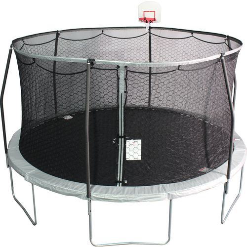 Jump Zone 14 Ft Round Trampoline With DunkZone Basketball