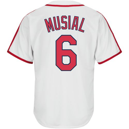 Majestic Men's St. Louis Cardinals Stan Musial 6 COOL BASE Cooperstown Replica Jersey