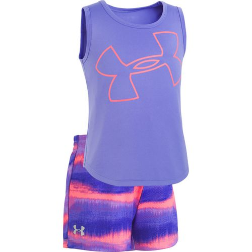Under Armour Girls' Big Logo Horizon Tank Top and Shorts Set