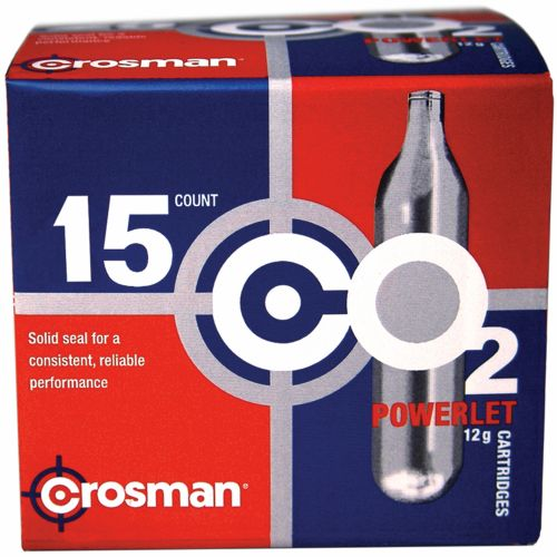 Crosman Copperhead Powerlet 12-Gram CO₂ Cartridges 15-Pack