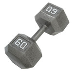 CAP Barbell 60 lb. Solid Hex Dumbbells
