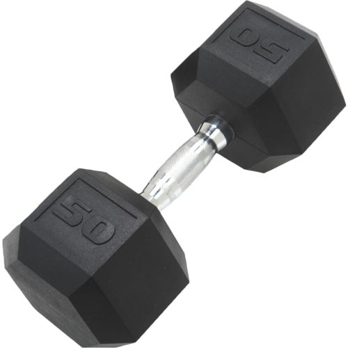 CAP Barbell 50 lb. Coated Hex Dumbbell