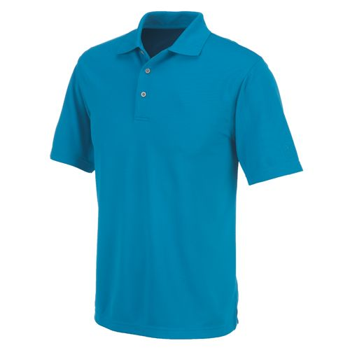 PGA TOUR Men's Solid Textured Short Sleeve Polo