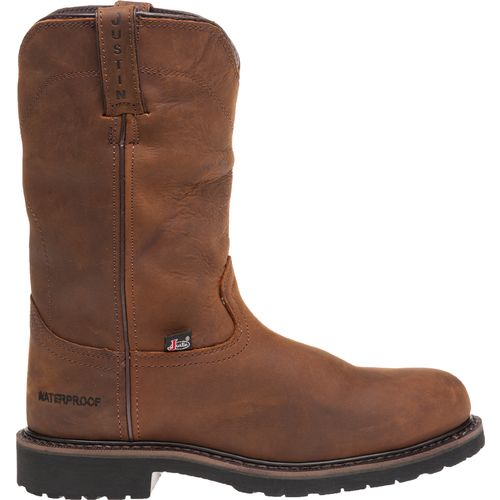 Justin Men's Steel-Toe Wellington Work Boots