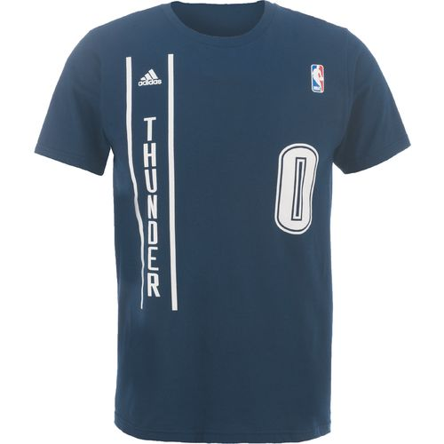 adidas™ Men's Oklahoma City Thunder Russell Westbrook #0 Game Time Flat Alternate T-shirt