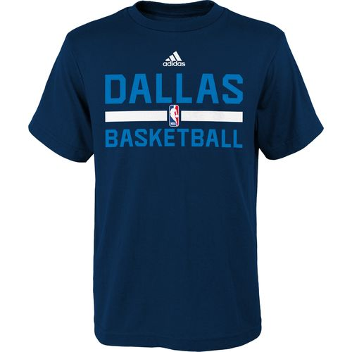 adidas Boys' Dallas Mavericks Practice Wear T-shirt