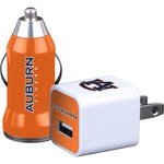 Mizco Auburn University Home and Away USB Chargers 2-Pack