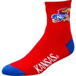 For Bare Feet Men's University of Kansas Originals Team Quarter Socks