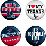 WinCraft Houston Texans Buttons 4-Pack