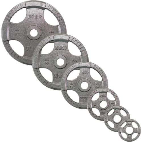 Body-Solid 255 lb. Rubber Grip Olympic Plate Set