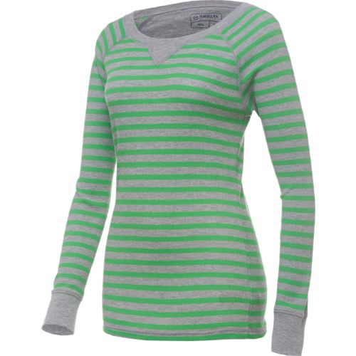 Magellan Outdoors  Women s Adventure Striped Thermal T-shirt